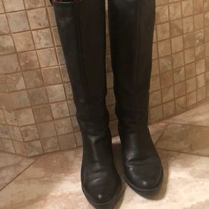 Gently work Calvin Klein leather knee boots